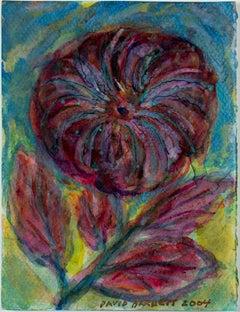 """Iridescent Fireworks Flower,"" original mixed media painting by David Barnett"
