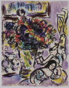 """Homage to Marc Chagall: The Anemones, M730,"" original piece by David Barnett"