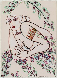 """Famous Artist Series: Tattooed Matisse Model Variation III"" by David Barnett"