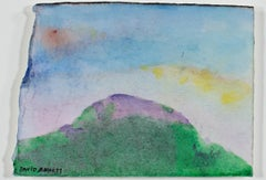 """Purple Mountain Majesty,"" original watercolor and mixed media by David Barnett"