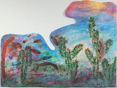 """Southwest Sunset Paper Clip Cactus Palette,"" original work by David Barnett"