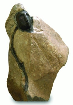 """Judge,"" serpentine stone sculpture by Shona artist John Takawira"