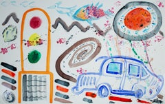"""Radiator Trouble - Artist Convergence-,"" Original Watercolor by David Barnett"