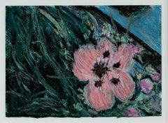 """Pink Poppy at the Front Door,"" Original Pastel Drawing signed by David Barnett"