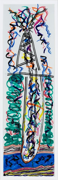 """""""It's a Gusher II,"""" Original Color Ink Drawing signed by David Barnett"""