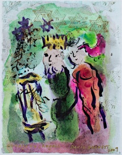 """Famous Artist Series: Homage to Marc Chagall: Carte de Voeux,"" by David Barnett"