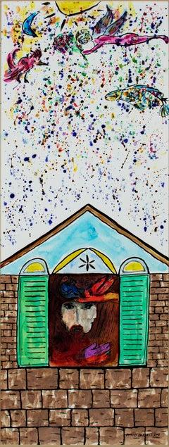 """Homage to Chagall: David & Bathsheba Sunrise Celebration,"" by David Barnett"