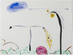 """Bird Disguised as Giacometti II,"" original mixed media work by David Barnett"
