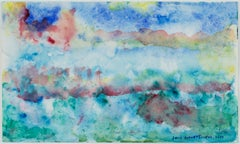 """""""Saltwater at the Stateroom Window,"""" Original Watercolor signed by David Barnett"""