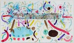"""Homage to Debra Lyn, New Horizon in Media Shower,"" watercolor by David Barnett"
