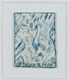 """""""Bird,"""" original early framed pencil drawing by David Barnett"""