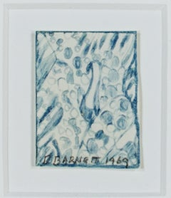 """Bird,"" Original Early Pencil Drawing signed by David Barnett"