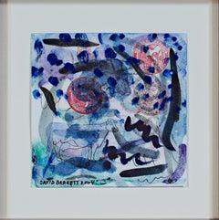"""Cows Controversy over Chenequa,"" original watercolor and ink by David Barnett"