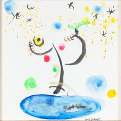 """Homage to Miro: Jwa Practicing Yoga Disguised as a Bird"" by David Barnett"