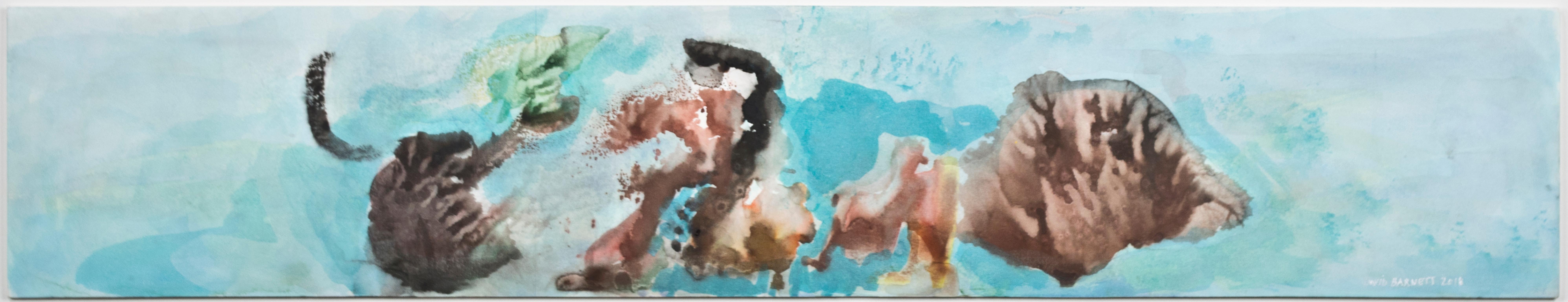 """Underwater Series: Coral Reef,"" Original Watercolor signed by David Barnett"