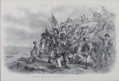 """""""Storming Stony Point, July 16, 1779,"""" original lithograph from Kurz & Allison"""