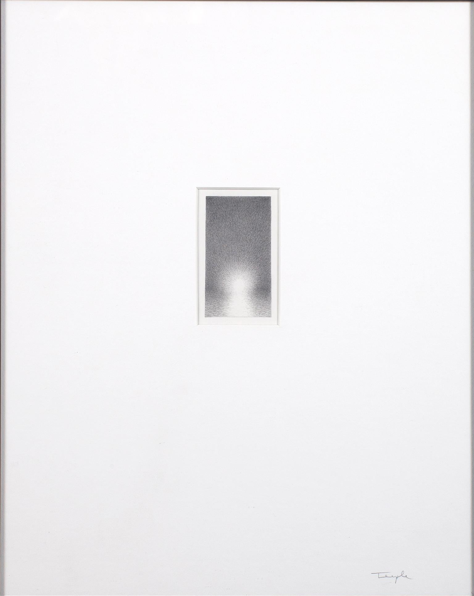 """""""Ascension #4,"""" Original Miniature Graphite on Paper signed by Bill Teeple"""
