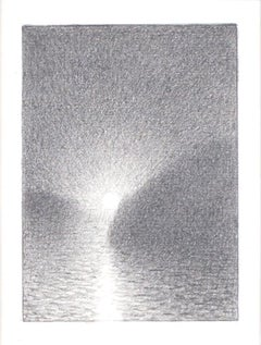 """""""Light 2010 #3,"""" Original Miniature Graphite on Paper signed by Bill Teeple"""