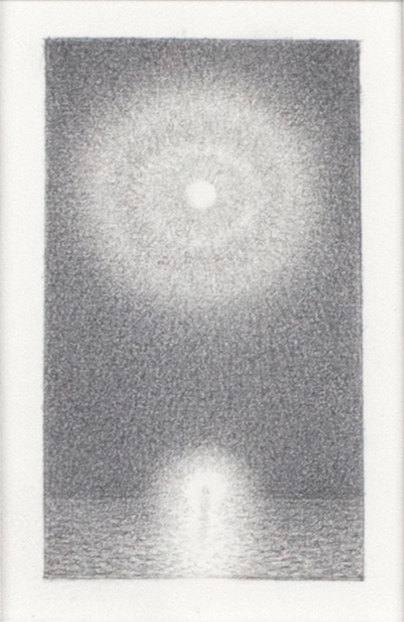 """""""Christ #5,"""" Original Miniature Graphite Drawing on Paper signed by Bill Teeple"""
