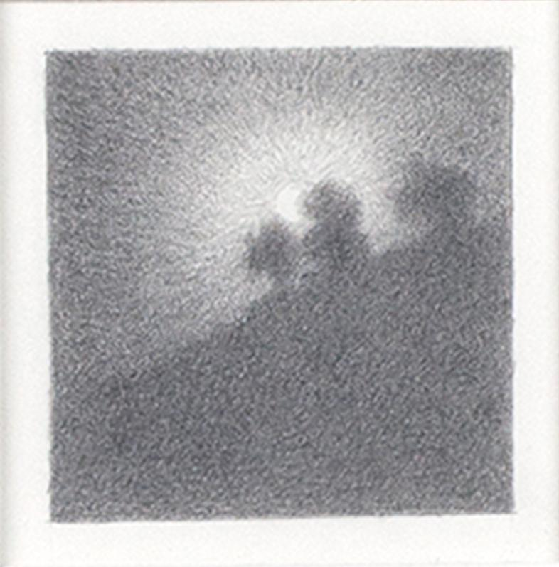 """""""Full Moon #26,"""" Original Miniature Graphite on Paper signed by Bill Teeple"""