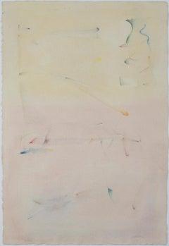 """Land, Sea, & Sky,"" Original Abstract Watercolor signed by David Barnett"