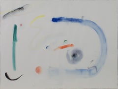 """""""Sky Palette,"""" Early Original Abstract Watercolor signed by David Barnett"""