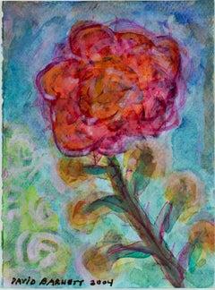 """Iridescent Hybrid Rose,"" original watercolor painting by David Barnett"