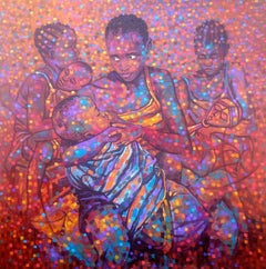 """""""Unexpected Care,"""" Multicolored Acrylic on Canvas by Francis Annan Affotey"""