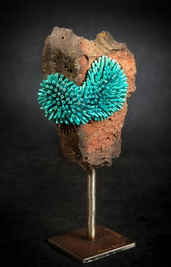 """Cinnabar,"" Copper and Stone signed by Dennis Robert"