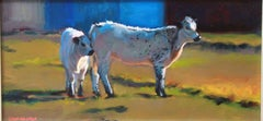 """""""Safe with Mama,"""" Oil on Board Farm Animal Portrait signed by Cathryn Ruvalcaba"""