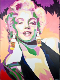 """Te Quiero (Marilyn),"" Mixed Media Acrylic & Oil Pastel signed by Dara Piken"