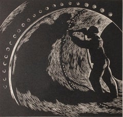"""Underground,"" Wood Engraving by Gerhardt H. Bakker"