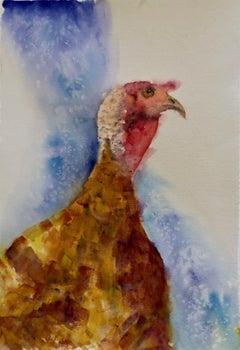 """""""Eastside Turkey,"""" Watercolor Animal Portrait by Julia Taylor"""