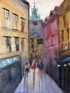 """Gamla Stan (Stockholm, Sweden),"" Watercolor Cityscape by Julia Taylor"