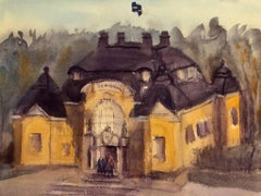 """""""Haga Tingshul Stockholm (Sweden),"""" Watercolor Cityscape by Julia Taylor"""