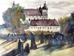 """""""Skolkloster Castle (Sweeden),"""" Watercolor on Paper landscape by Julia Taylor"""