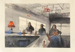 """""""Wausau Wednesday Night,"""" Watercolor on Paper Interior by Julia Taylor"""