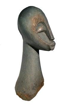 """""""Head,"""" Opal Sculpture signed by Joseph Makenzi an African Shona"""