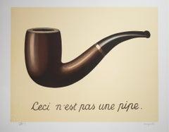 """La Trahison des images (The Treachery of Images),"" Litho after Rene Magritte"
