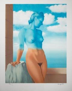 """""""La Magier noire (Black Magic)"""" Color Litho after 1945 Original by Rene Magritte"""