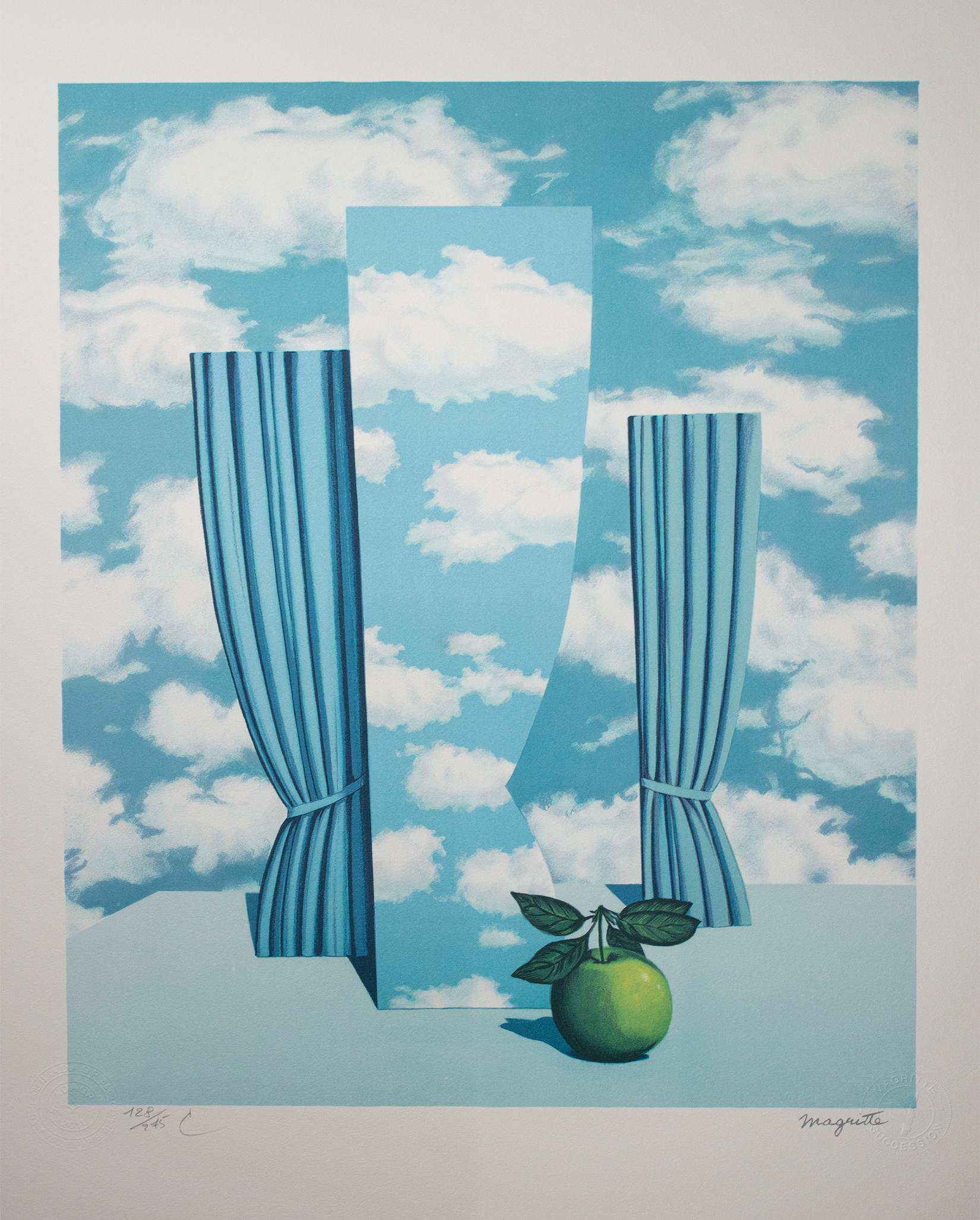 """""""Le Beau Monde (High Society),"""" Litho after Original Painting by Rene Magritte"""
