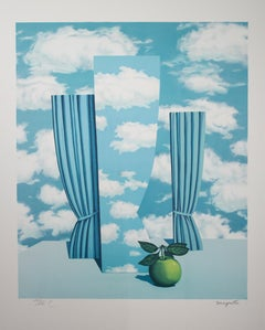 """Le Beau Monde (High Society),"" Litho after Original Painting by Rene Magritte"