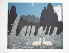 """""""L'Art de la conversation (The Art of Conversation),"""" Litho after Rene Magritte"""