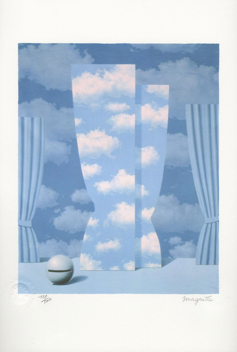 """René Magritte Still-Life Print - """"La Peine Perdue (The Wasted Effort)"""" Lithograph after Painting by Rene Magritte"""