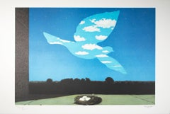 """""""Le Retour (Return),"""" Color Lithograph after Painting by Rene Magritte"""