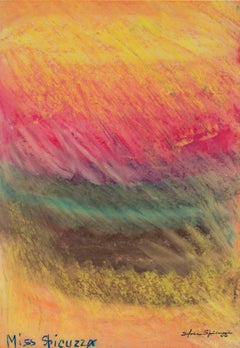 """Color Field (Chalk on Wet Paper)"" original pastel by Sylvia Spicuzza"