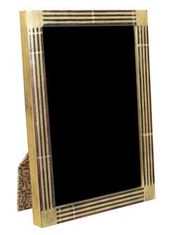 """Handmade 22K Gold Leaf Photo Frame,"" Wood 4 x 6 in made in Romania"