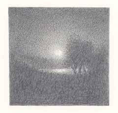 """""""Light #104,"""" Original Miniature Graphite on Paper signed by Bill Teeple"""