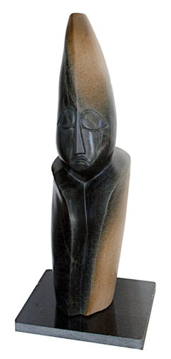 """Spirit,"" Carved Springstone signed by Tendai Mushawepwere an African Shona"