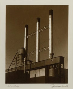 """Silver Stacks,"" Black and White Photograph signed by James W. Porth"